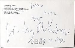 Hans Ulrich Rudel Most Highly Decorated German Serviceman WW II Autograph'Rare