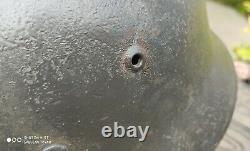 Helmet german original nice helmet M40 size 66 original WW2 WWII have a number
