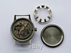 Helvetia DH SWISS Cal. 82A WWII War Military Pilot German Army Black Wrist Watch