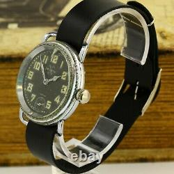 Helvetia WWII military pilot officers German Airforce Luftwaffe watch 1940's