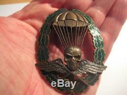 Hungarian WWII paratrooper combat award for officer original badge for germans