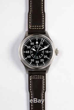 Japan NH35 Mens Wrist watch German Big Pilot Sapphire Luminous B-Uhr WW2 Heated