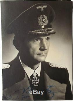 Karl Donitz German Naval Commander WW II Autograph Signed Photo'Nice Example