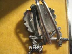 Knight cross oak leaves swords WWII award german pilot solid silver bakelit case