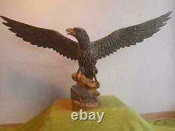 Large German WW2 Era Reichsadler Eagle Desk or Table Statue