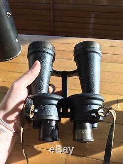 Leitz beh 7 x 50 Dienstglas German WW2 Binoculars & Original Military Case