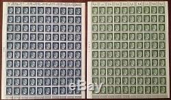 Lot Stamp Germany 19 Sheet 1941 WWII AH Adolf Hitler Complete Set MNH Faults