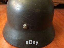 Luftwaffe M35 ET66 sd german helmet ORIGINAL WWII elmetto tedesco originale