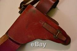 Luger Pistol Holster P08 and Belt German ally Cavalry Bulgaria WW2 Original WWII