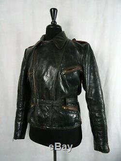Men's Vintage WW2 1940's German Horsehide Leather Luftwaffe Jacket 38R (S)