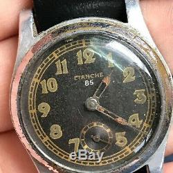 Military WW2 Watch ETANCHE 85 DH Original Mechanical Rare German Army Wehrmacht