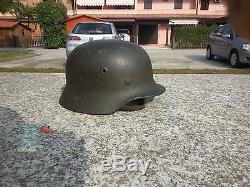 Original German M40 Helmet Wwii Complete