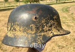 ORIGINAL German WW2 Afrika Korps Camoflague M35 Helmet