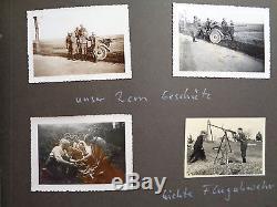ORIGINAL Militaria WWII GERMAN PHOTO Album Franca Paris Polonia krakao