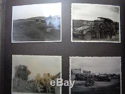 ORIGINAL Militaria WWII GERMAN PHOTO Album Gebirgsjäger Edelweis panzer tank