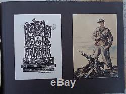 ORIGINAL Militaria WWII GERMAN PHOTO Album RAD Gebirgsjäger Edelweis mapa narvik