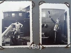 ORIGINAL Militaria WWII GERMAN PHOTO Album photos militar kriegsmarine sailor