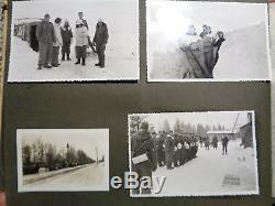 ORIGINAL Militaria WWII GERMAN PHOTO Album winter camuflage MP-40 MG42 russia