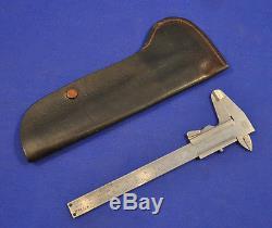 ORIGINAL & RARE WWII GERMAN MAUSER FACTORY SLIDE CALIPER TOOL withCASE