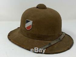 ORIGINAL WW2 Dated 1942 German DAK Afrika Korps PITH HELMET WWII DESERT