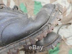ORIGINAL WW2 GERMAN ARMY / ELITE TROOPS gebirgsjager MOUNTAIN TROOPS BOOTS 44