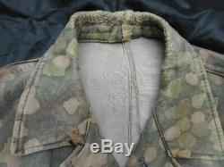 ORIGINAL WW2 GERMAN ELITE late war smooth 44 DOT PATTERN CAMO TARN tunic jacket