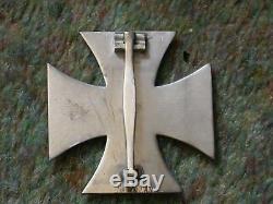 ORIGINAL WW2 GERMAN IRON CROSS 1st CLASS, BRASS CORE, RARE Type