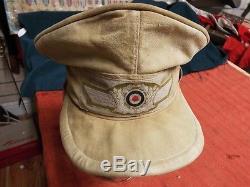 Original Ww2 German Luftwaffe Dak Tropical Hermann Meyer Cap Helmet