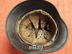 Original Ww2 German M40 Normandy Camo Zimmerit Finished M. 40 Army Helmet