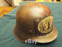 Original Ww2 German M42 Normandy Camo Luftwaffe Vet Bring Back Helmet