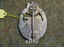 ORIGINAL WW2 GERMAN PANZER BADGE maker marked H. A