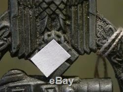 ORIGINAL WW2 GERMAN PANZER BADGE maker marked R. S
