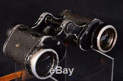 ORIGINAL WWII GERMAN 6X30 EMIL BUSCH cxn DIENSTGLAS BINOCULARS + GRATICULE STRAP