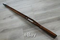 ORIGINAL WWII GERMAN ARMY WOODEN RIFLE STOCK FOR MAUSER K98. MARKING brg. 1