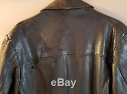 ORIGINAL WWII WW2 German U-Boat Line Officer's Leather Coat/Jacket RARE