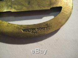 Old German submarine war badge WW I and WW II original Walter Schot rare medal