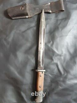 Original 1942 dated MATCHING WW2 German Mauser K98 Bayonet Scabbard 42agv 6002 C