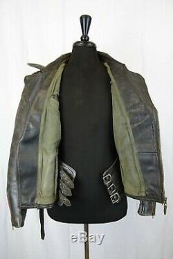Original Aero 1940's WW2 German Horsehide Leather Flight Luftwaffe Jacket 40R S