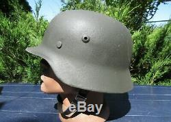 Original-Authentic WW2 WWII Relic German helmet Wehrmacht manufacturer number #3