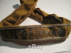 Original German Cuff title Africa WK 2 Ärmelband Afrika WW II Rommel rare