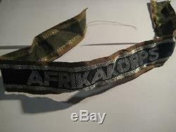 Original German Cuff title Africa WK 2 Ärmelband Afrikakorps WW II Rommel rare