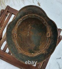 Original German Helmet M40 Relic of Battlefield WW2 World War 2 Decal Liner