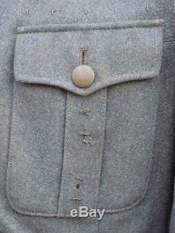 Original German M40 Feldbluse, good condition, stamps & awards, very large size