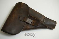 Original German PP PPK P38 Leather Pistol Holster WWII WW2