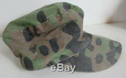 Original German WW 2 M43 Camouflage Fieldcap