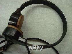 Original German WW2 Army Panzer Earphones Microphones Headset Throat Tank
