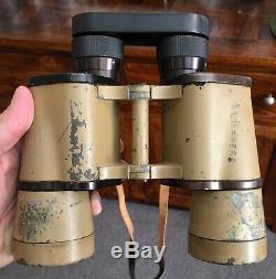 Original German WW2 BEH Leitz 10 x 50 large ocular tan variant Binoculars RARE