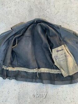 Original German WW2 Kriegsmarine Luftwaffe fallschirmjäger leather jacket
