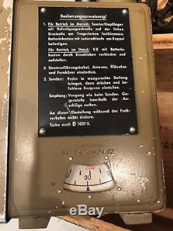 Original German WW2 Radio Klein Funk Sprechgerät KlFuSpr d (Dorette) Tpk a