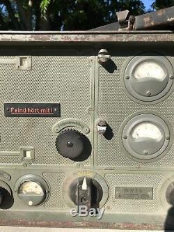 Original German WW2 Radio transmitter 20WSb w History
